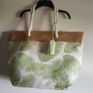 Handbags - Extra Large Tote Palm Fronds Beach Summer NWOT